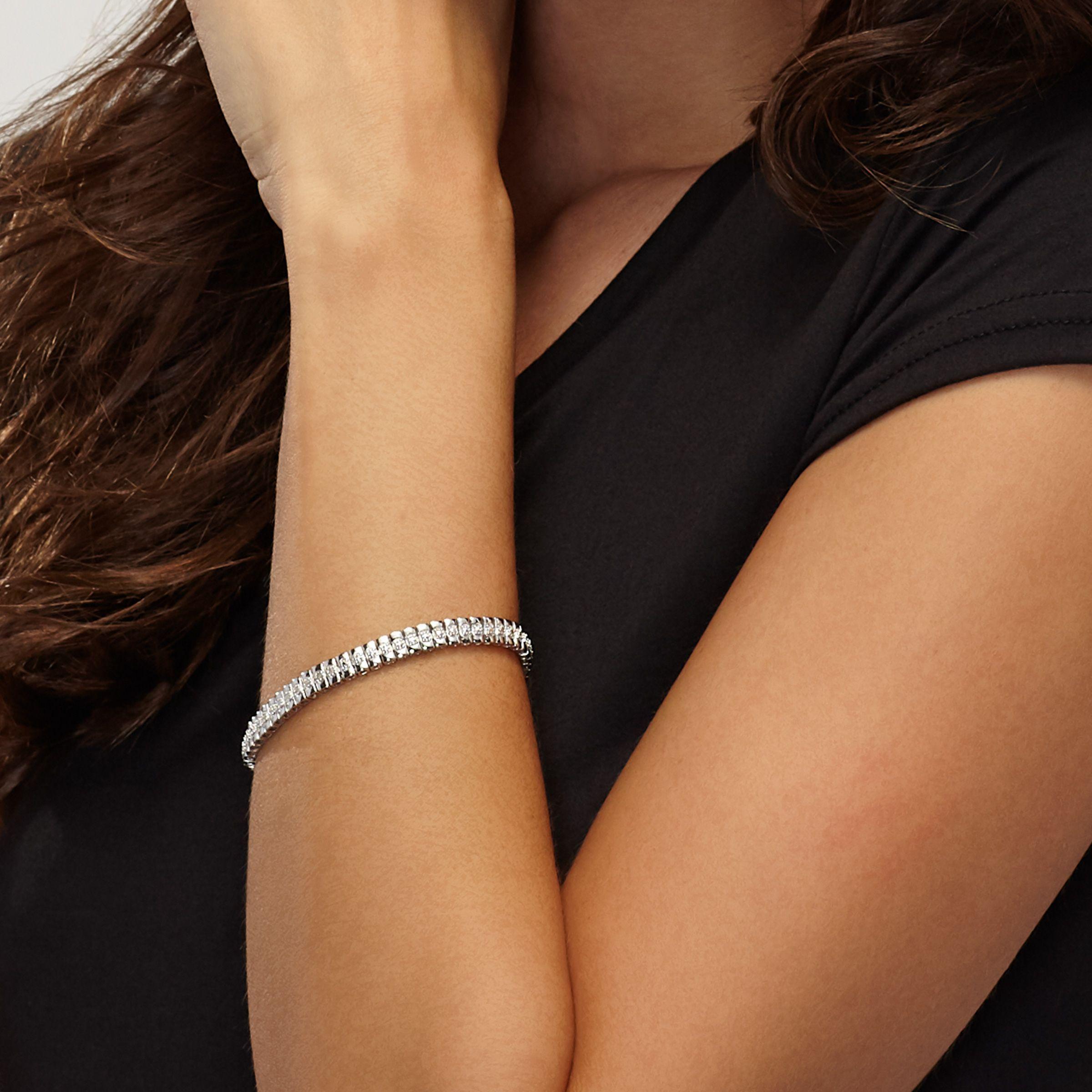 1-10-ct-Diamond-Line-Bracelet-in-Plated-Brass-7-25-034 thumbnail 8