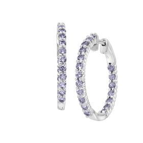 Tanzanite Front-Back Hoop Earrings