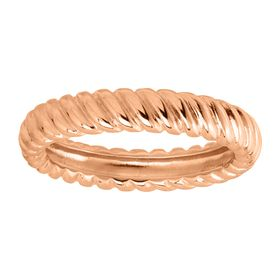 Twisted Band Ring, Rose