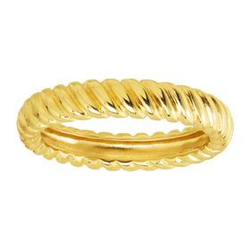 Twisted Band Ring, Yellow