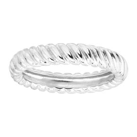 Twisted Band Ring, White