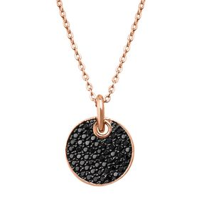 Black Spinel Disc Pendant