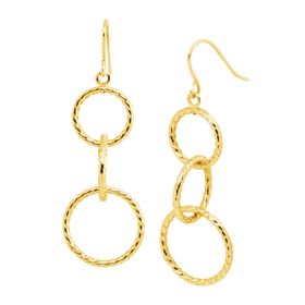 Textured Circle Drop Earrings