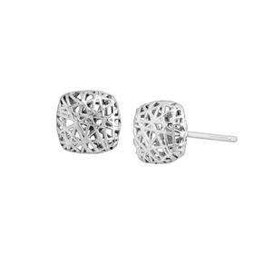Mesh Cushion Stud Earrings