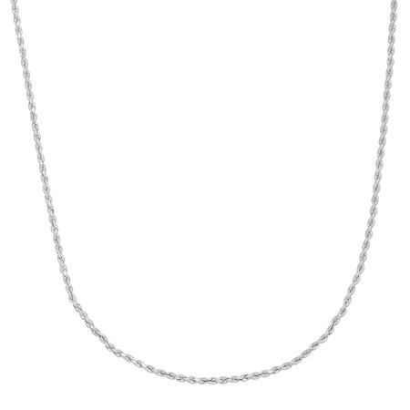 Glitter Rope Chain Necklace, 16