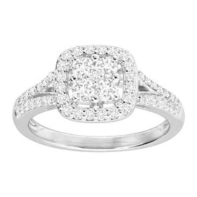 3/4 ct Diamond Halo Engagement Ring