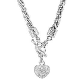 1/8 ct Diamond Heart Charm Necklace