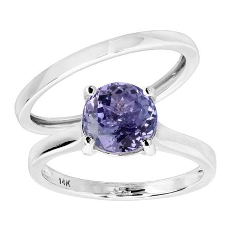 Tanzanite Bridal Ring Set with Diamonds