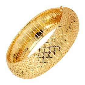 Flexible Textured Bangle Bracelet