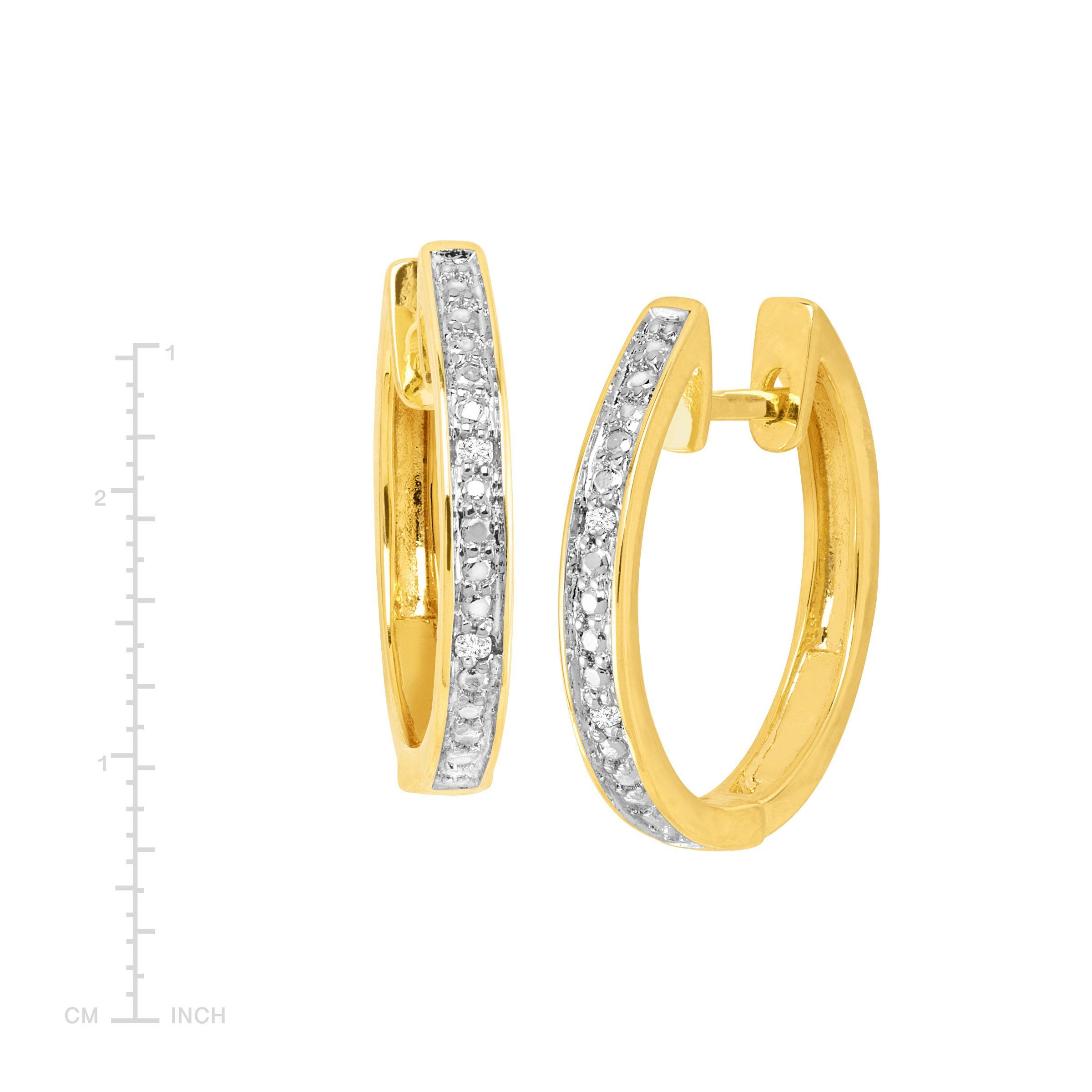 Hoop-Earrings-with-Diamonds-in-Plated-Brass thumbnail 16