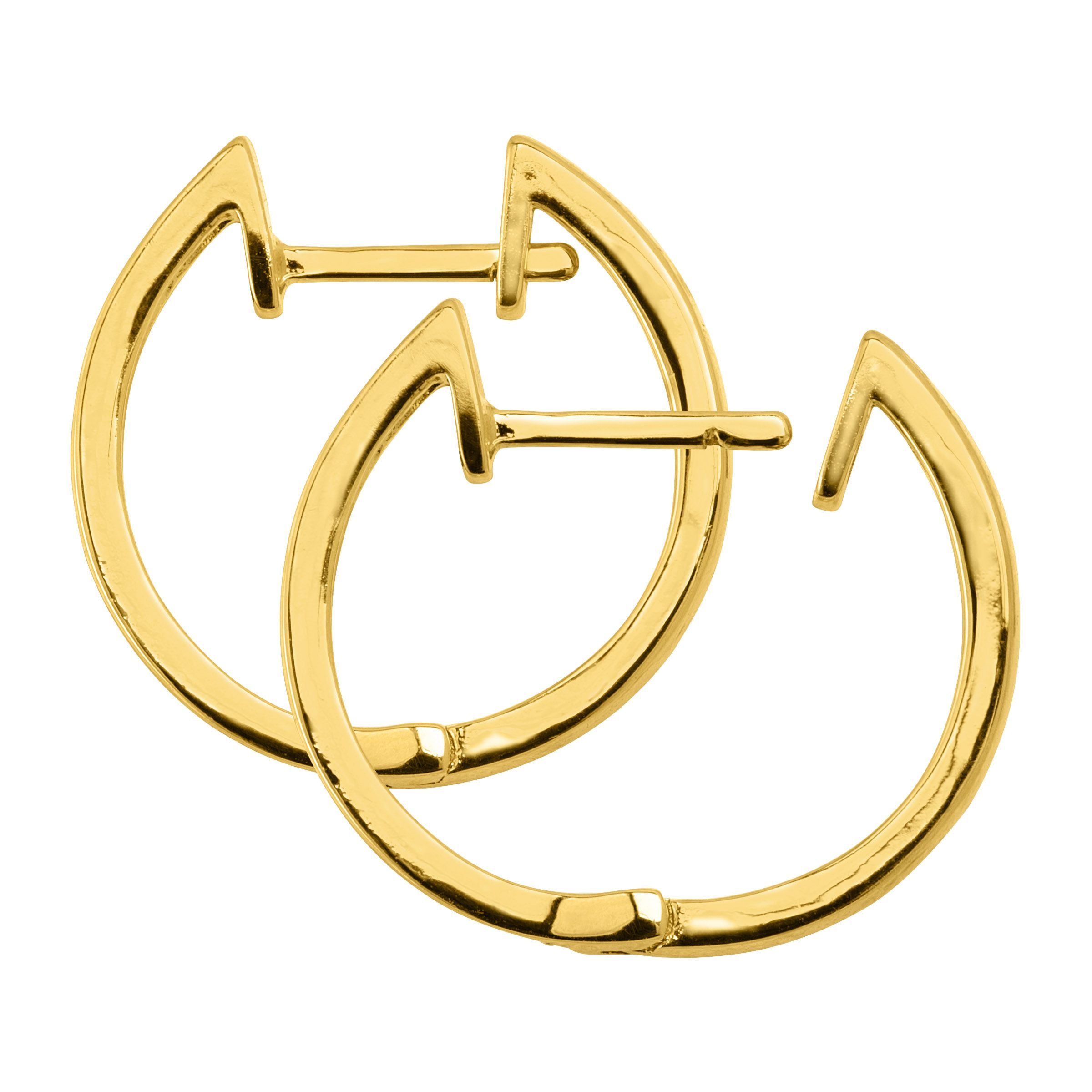 Hoop-Earrings-with-Diamonds-in-Plated-Brass thumbnail 15