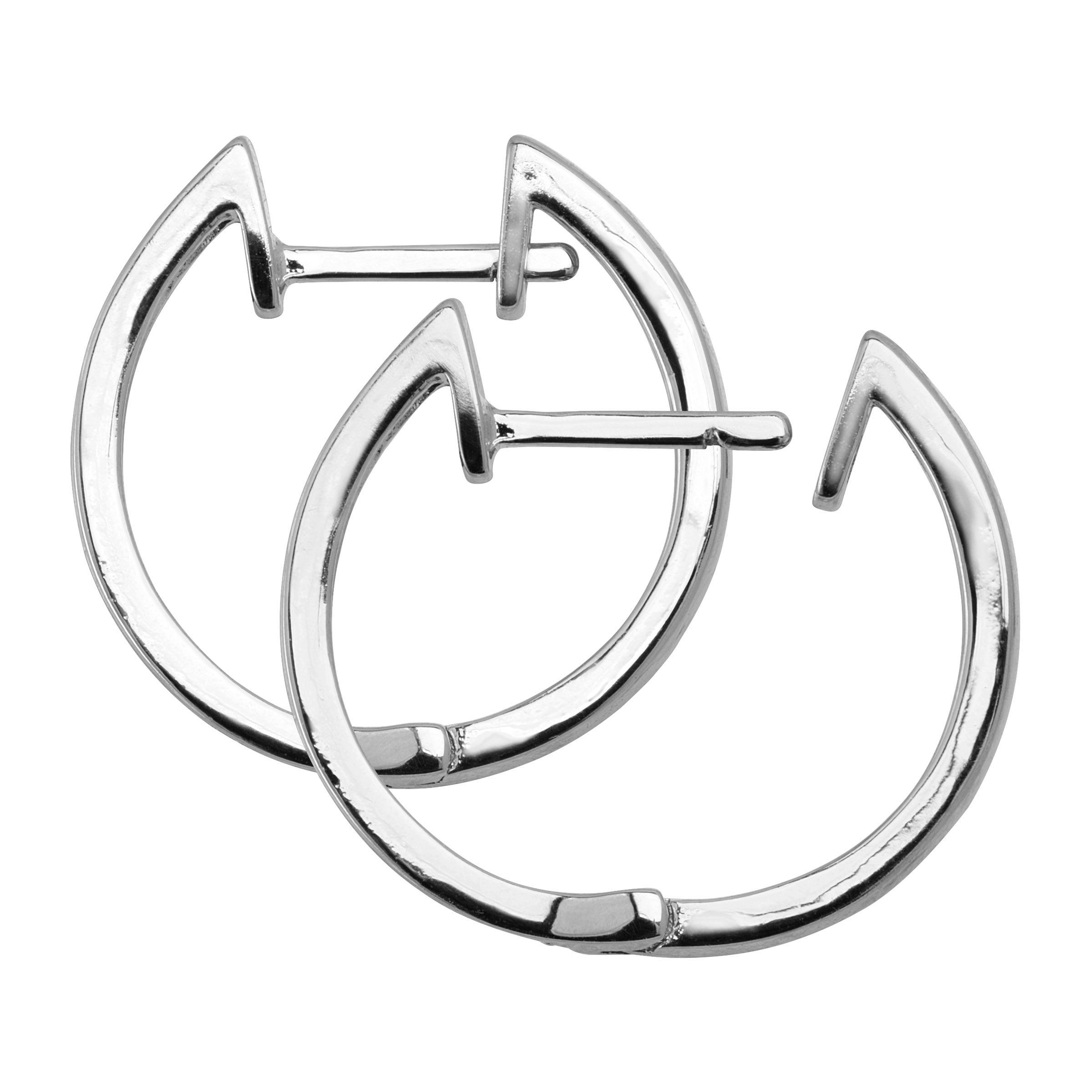 Hoop-Earrings-with-Diamonds-in-Plated-Brass thumbnail 9