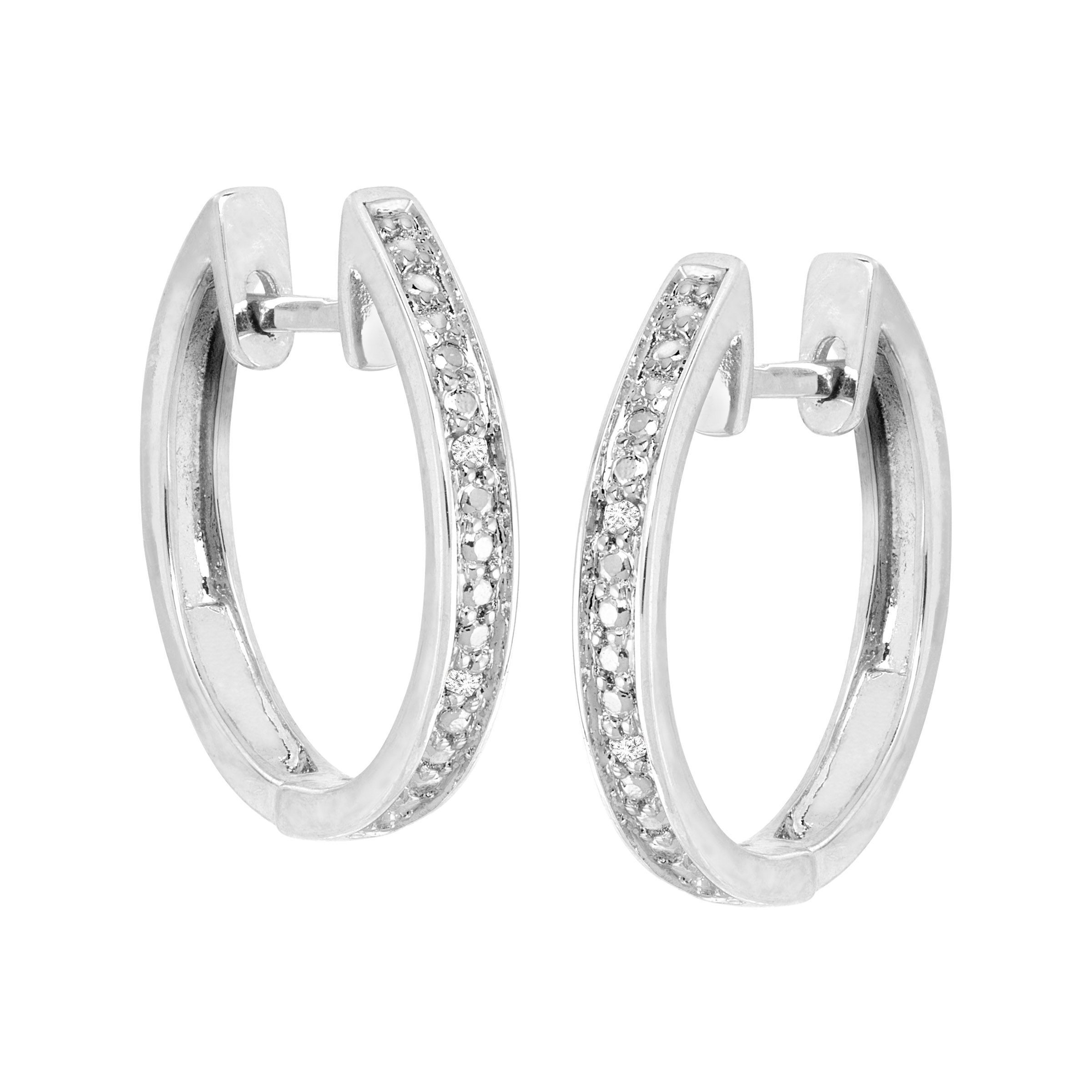 Hoop-Earrings-with-Diamonds-in-Plated-Brass thumbnail 8