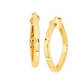 Geometric Square Hoop Earrings, Small
