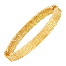 Greek Key Bangle Bracelet