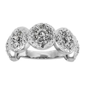 Round Band Ring with Crystals & Diamonds