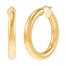 30 mm Wide Hoop Earrings
