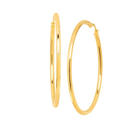 59 mm Classic Tube Hoop Earrings