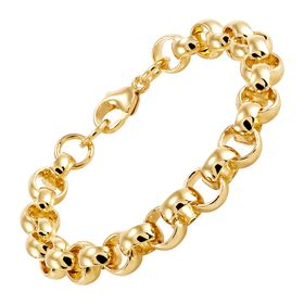 9 mm Rolo Link Chain Bracelet
