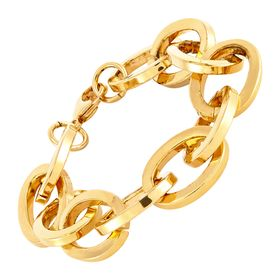 Statement Oval Link Bracelet