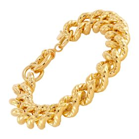 12 mm Twisted Curb Chain Bracelet