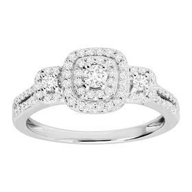 1/2 ct Diamond Halo Engagement Ring