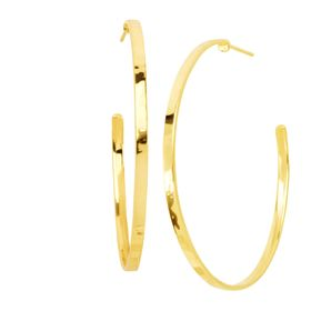 Circle Up Hoop Earrings, Yellow