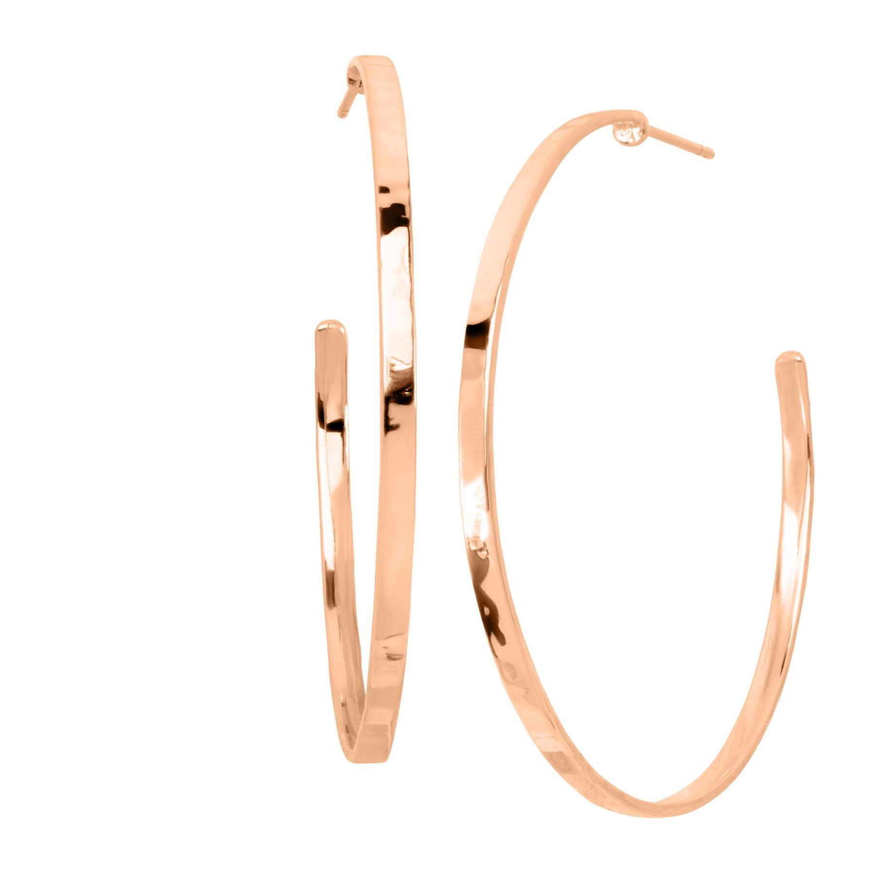 Silpada Circle Up Hammered Hoop Earrings In 18k Rose Gold Plated Sterling Silver Circle Up Hoop Earrings Rose Silpada
