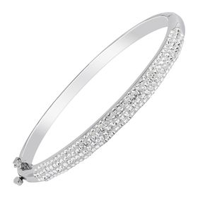 Bangle Bracelet With Swarovski Crystals