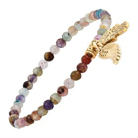 Hamza & Wing Charm Bracelet, Multi-Color
