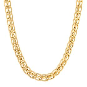 Double Oval Rondel Link Necklace