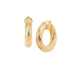 Twisted Huggie Hoop Earrings