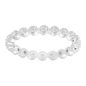 Eternity Band Ring with Cubic Zirconias, White