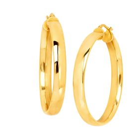 40 mm Flat Hoop Earrings