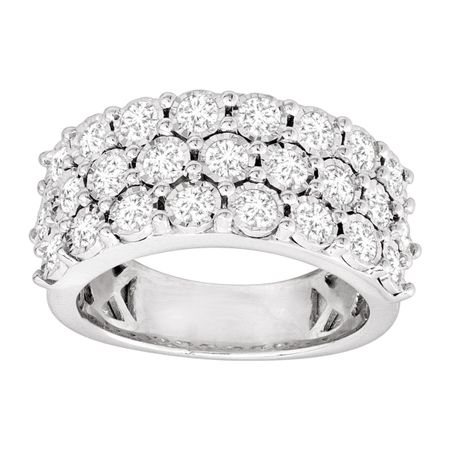 1 1/2 ct Diamond Row Ring