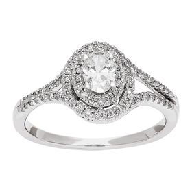5/8 ct Diamond Oval Engagement Ring