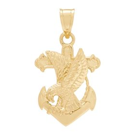Men's Anchor with Eagle Charm