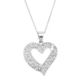 1/2 ct Diamond Heart Pendant