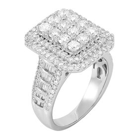 2 ct Diamond Rectangular Engagement Ring