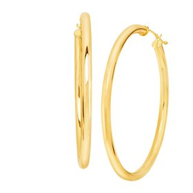 50 mm Round Tube Hoop Earrings