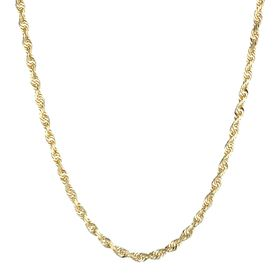 Solid Glitter Rope Chain Necklace