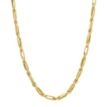 Baguette Rope Chain Necklace