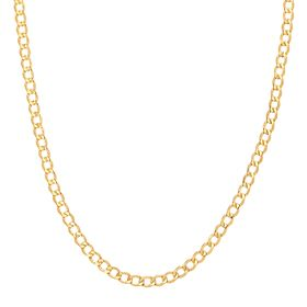 Beveled Curb Chain Necklace, 20""