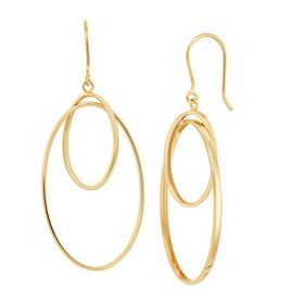 Interlocking Oval Drop Earrings