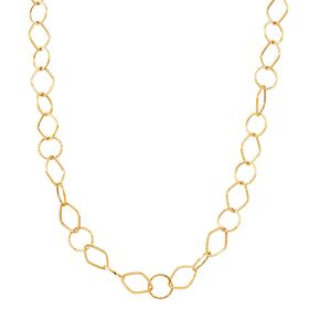 Geometric Link Chain Necklace