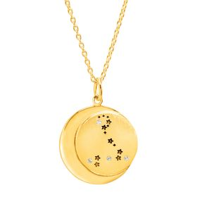 Pisces Constellation Pendant, Yellow