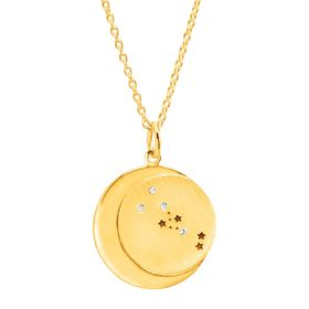 Taurus Constellation Pendant, Yellow