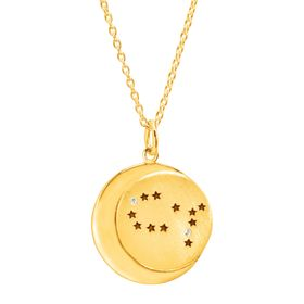 Gemini Constellation Pendant, Yellow