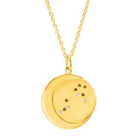 Leo Constellation Pendant, Yellow