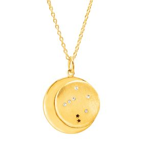 Libra Constellation Pendant, Yellow